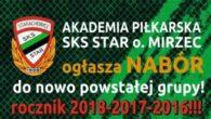 Akademia Piłkarska SKS Star Oddział Mirzec ogłasza nabór